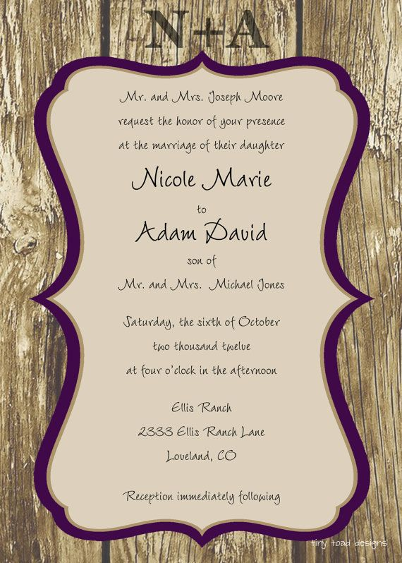 46 best Wedding invitation ideas images on Pinterest Invitation - free word invitation templates
