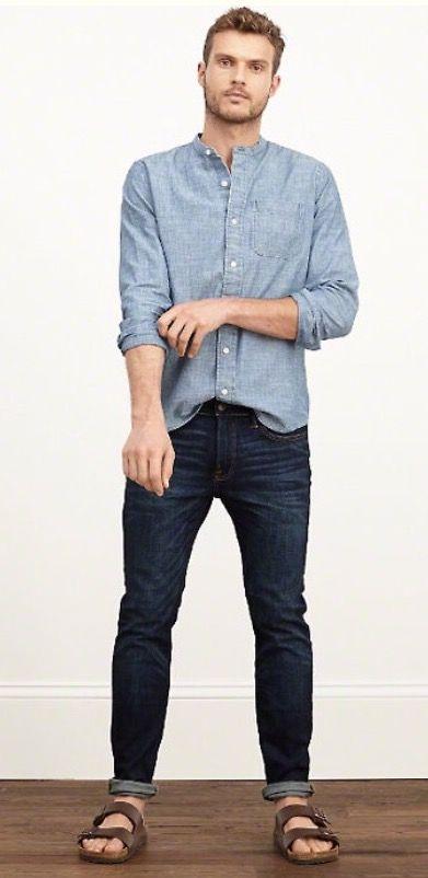 Some outfit inspiration for men! Rock your Birkenstocks.  http://www.englinsfinefootwear.com/mens-birkenstock/