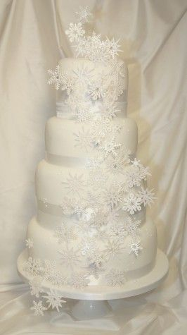 Snowflake wedding cake by Couture Cakes