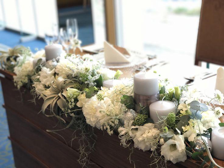 #amandansail#novarese#vressetrose#wedding #white #banqet #natural#flower #bridal#maintable#アマンダンセイル#ノバレーゼ# ブレスエットロゼ #ウエディング# ホワイト#グリーン#バンケット# メインテーブル# ナチュラル#スタイリッシュ# ブライダル#結婚式#ブレスエットロゼ千葉#キャンドル