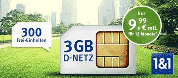 3GB mit 300 Freieinheiten ab 9,99€ im Vodafone Netz http://www.simdealz.de/vodafone/web-de-allnet-surf-3gb-aktion/