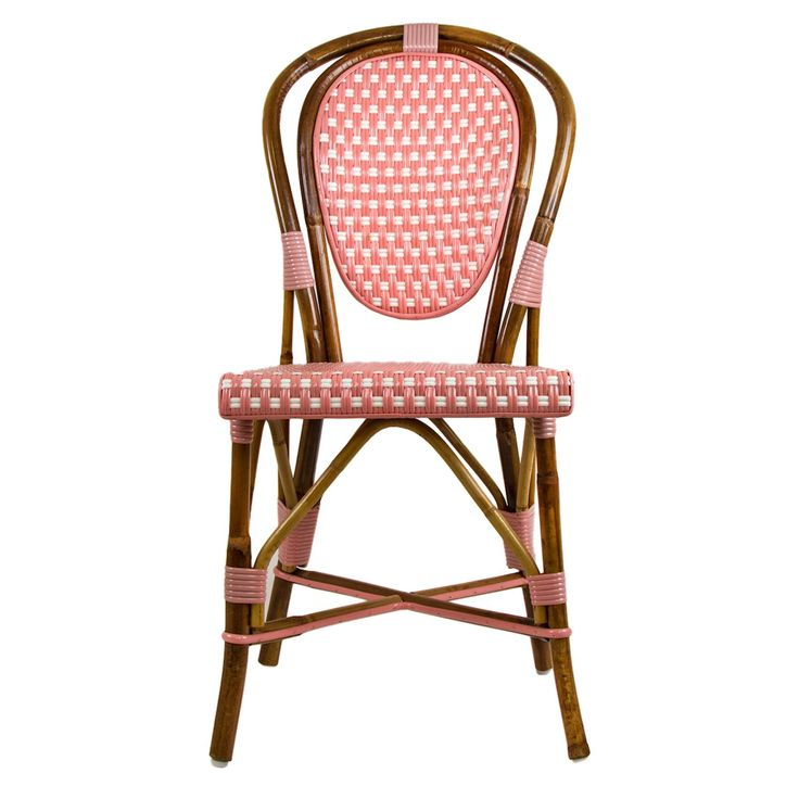 Pink Mediterranean Bistro Chair Our Most Popular Chair! These Armless  Rattan Framed Dining Chairs