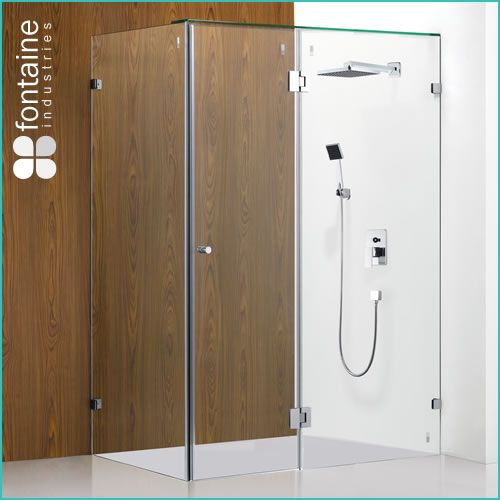 $565.00 Oxley Frameless Shower Screen 1500mm Actual | Fontaine Industries. Get the latest frameless look for your new shower room by installing your shower screen directly onto the tiled floor, leaving your room feeling more open and appearing more spacious. **The actual installed size of this product is 1500x900x1900mm used for installation without a shower base.**NEED TO CONSIDER EXTRA ROOM FOR SWINGING DOOR**