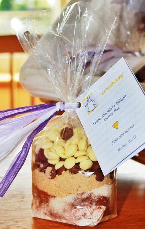 Nice idea for presentation of cookie mixes:  Cookie Mixes  - beautifully presented