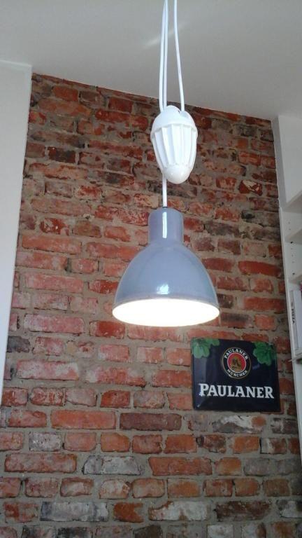 Lampa z przeciwwagą. Porcelana i metal. OKAZJA !!