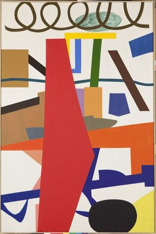 "Shirley Jaffe ""Cross Currents"" 2010 Oil on canvas 130 x 97 cm/ 51 x 38 in."