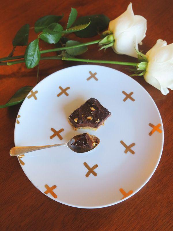 Raw Nutella Slice