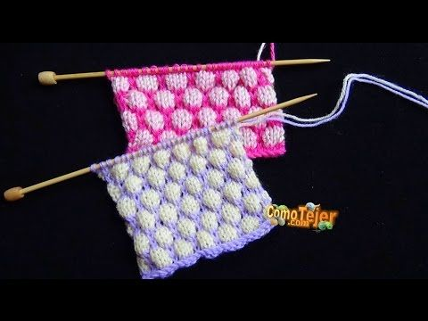 Cómo Tejer Punto ROPA BEBÉ #18  How to Knit a BABY STITCH 2 Agujas 432) - YouTube
