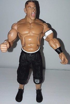 JOHN CENA WWE Jakks Pacific 2005 Ruthless Aggression RA black shorts shoes wwf