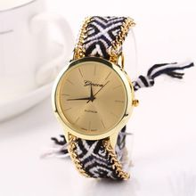 Creative Luxury Watch Women Knitted Braided Weaved Rope Band Bracelet Dial Wrist…