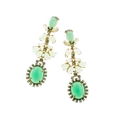 J.Crew cabochon earrings - mint