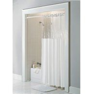 Sage Vinyl Windowed Shower Curtain Liner- Clear Top Standard Size 72″ Wide x 72″ Long