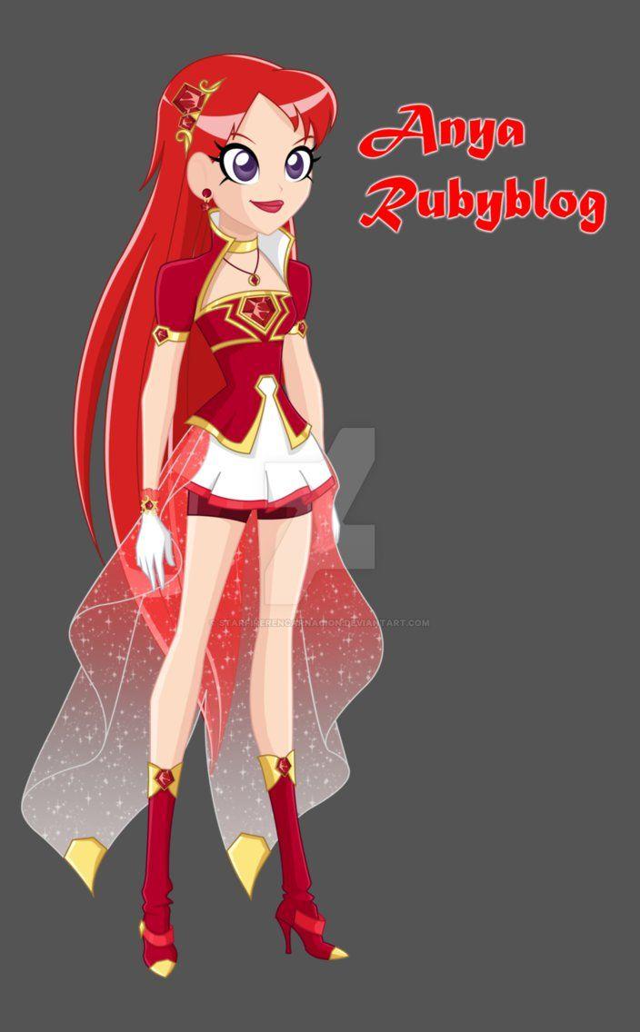 Lolirock OC: Anya Rubyblog - Princess of Cortania by starfirerencarnacion