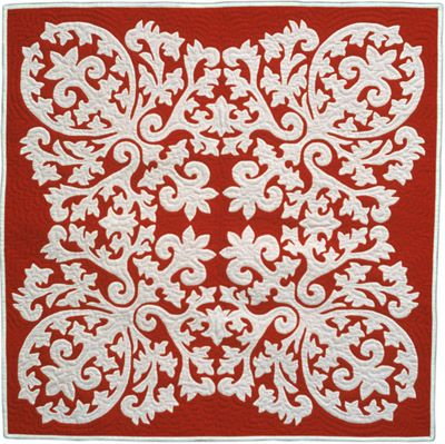 Appliqued quilt-absolutely stunning.
