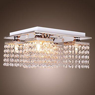 beaded loftslampe med 5 lys i krystal – DKK kr. 455