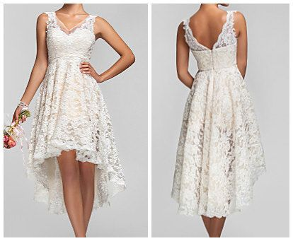 Asymmetric Lace Dress| 25 Dreamy Reception Dresses Under $150