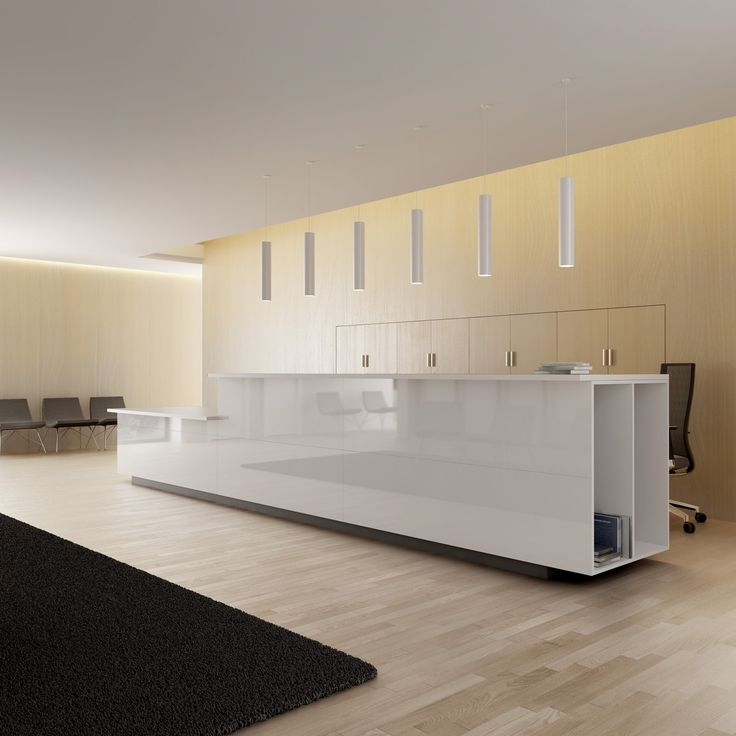 17 best images about desks on pinterest receptions for Modern office reception backdrop design
