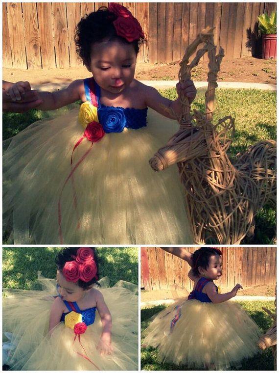 Snow White Tutu Dress by ZulettsCreations on Etsy, $28.00