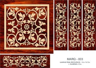 FOLHAS DE DECOUPAGE DECOPAPER: folhas de marchetaria FALSOS 16x16 CM. + GUARD (1)