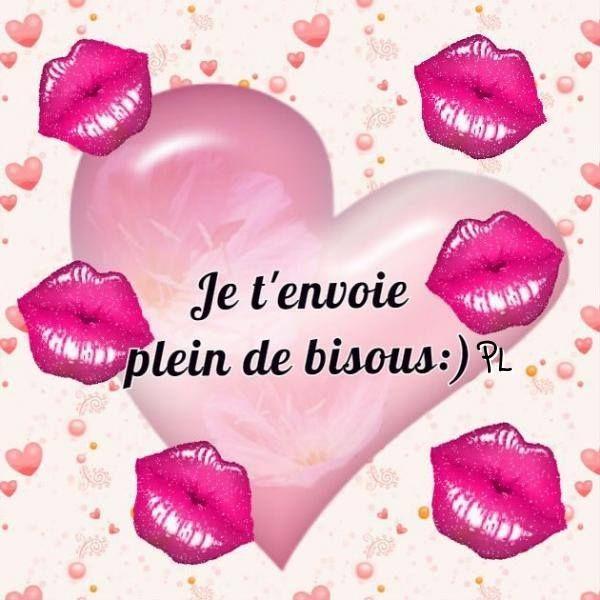 Je t'envoie plein de bisous #bisous coeur rouge a levre baisers