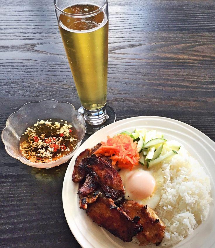 Vietnamese Lemongrass Pork Rice Plate