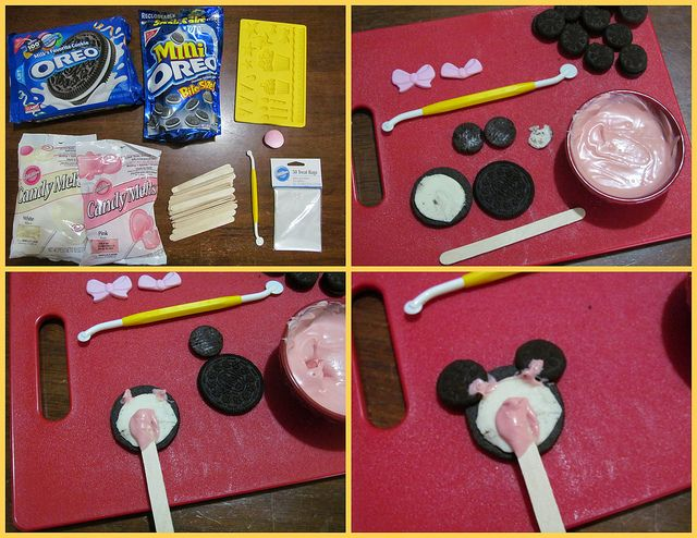 Minnie Mouse Cookie Pops how-to