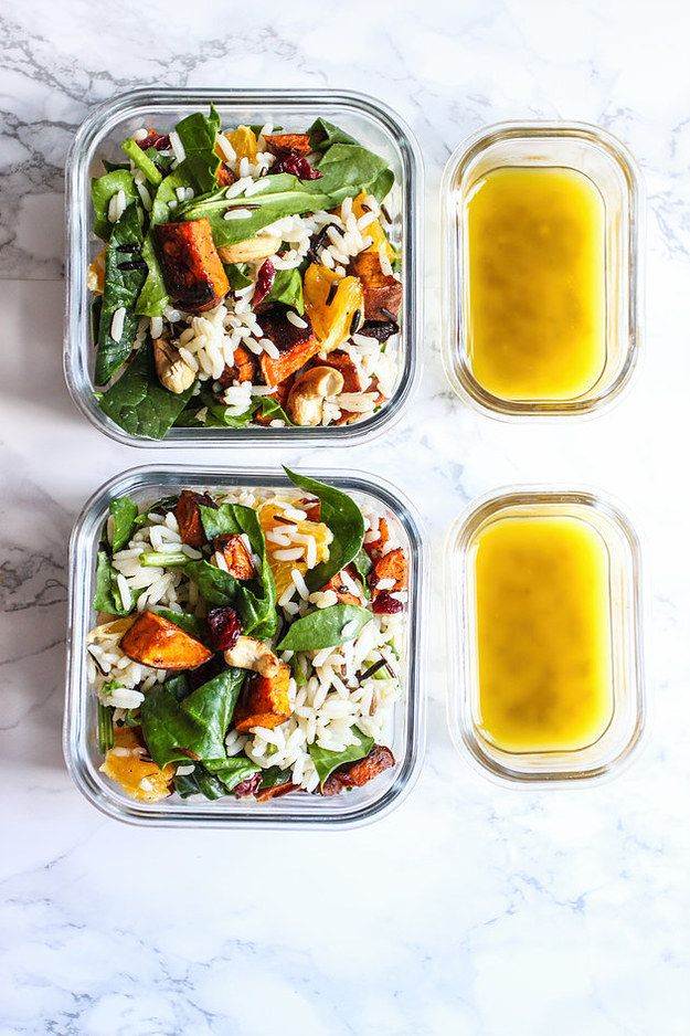 Sweet Potato, Cashew, and Cranberry Salad with Honey Mustard Dressing | 17 Delicious Make-Ahead Salads That Are Actually Filling