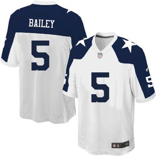 youth nike dallas cowboys 5 dan bailey limited white throwback alternate nfl  jersey sale e7752eeb0