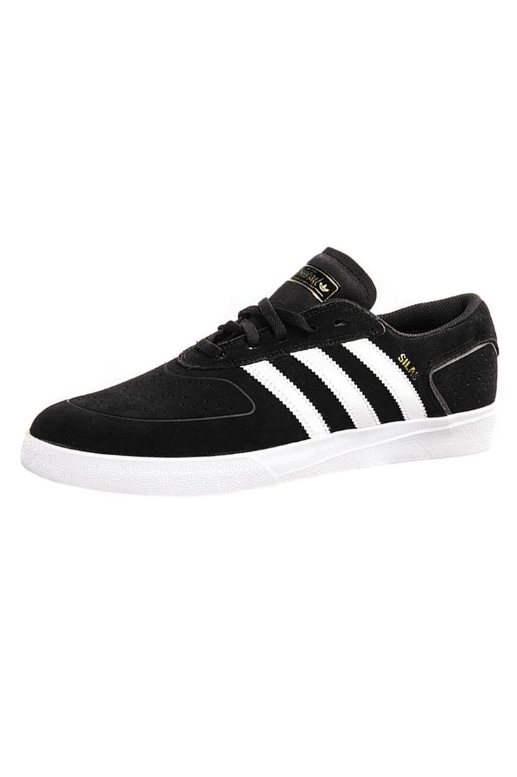 The Silas Vulcanized Shoes from Adidas. Featuring a full Black suede base  with White leather