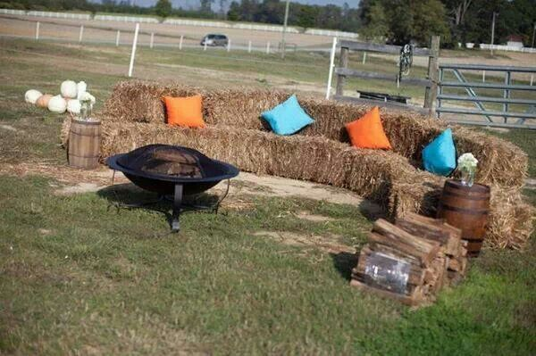 And then them square bales go up in flames...