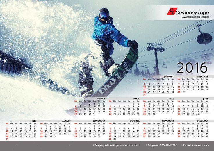 Calendar Template Powerpoint 2016