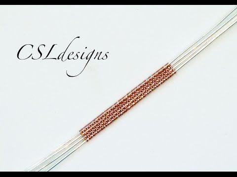 Herringbone wire weave video tutorial ⎮ Wire weaving series - YouTube
