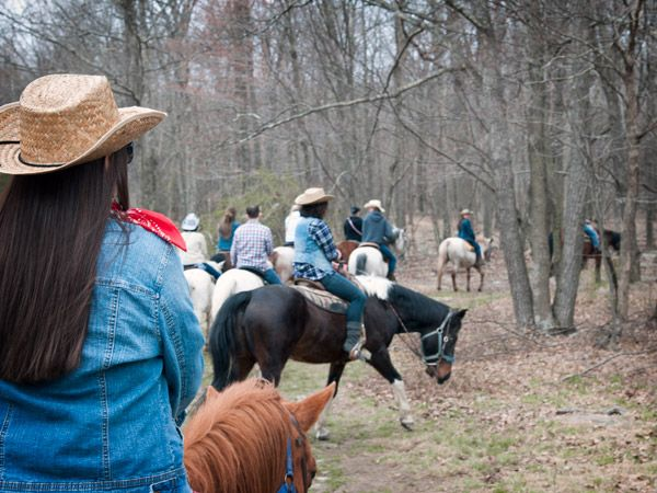 Cowgirl-themed bachelorette party
