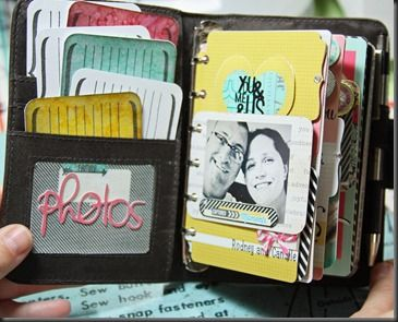 Spotted: Altered mini day planner using #MaggieHolmes #FleaMarket collection by #cratepaper  #scrapbooking #papercraft
