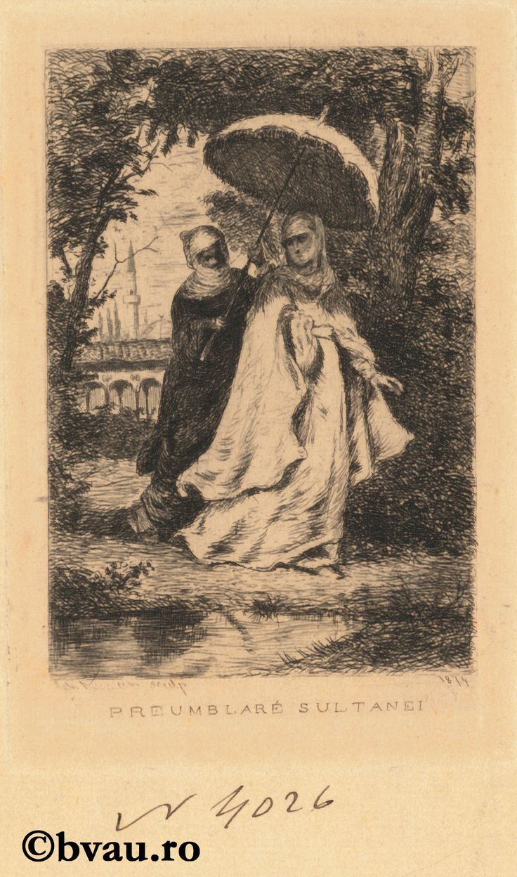 """Theodor Aman, Preumblare sultanei, 1874. Imagine din colecțiile Bibliotecii """"V.A. Urechia"""" Galați."""
