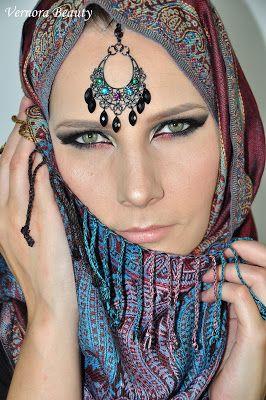 VERNORA BEAUTY               : Bollywood/arabic inspired makeup - Makijaż arabski/bollywood