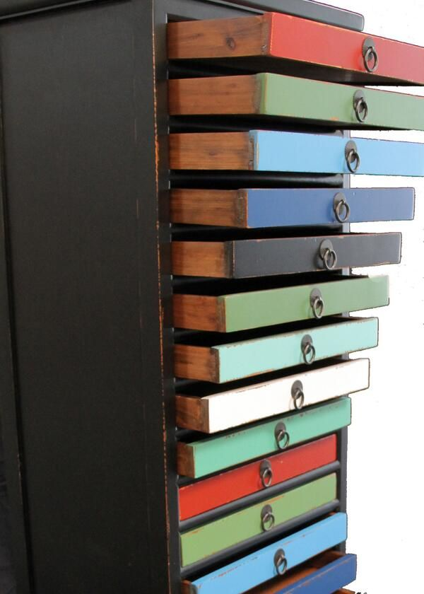 Barcelona 18 Drawer. What would you do with 18 drawers?  $399.00 40 x 50 x 145 cm This trendy yet classy drawer with its carefully selected vibrant colors can be a great addition for anyone looking to give character to any bedroom.