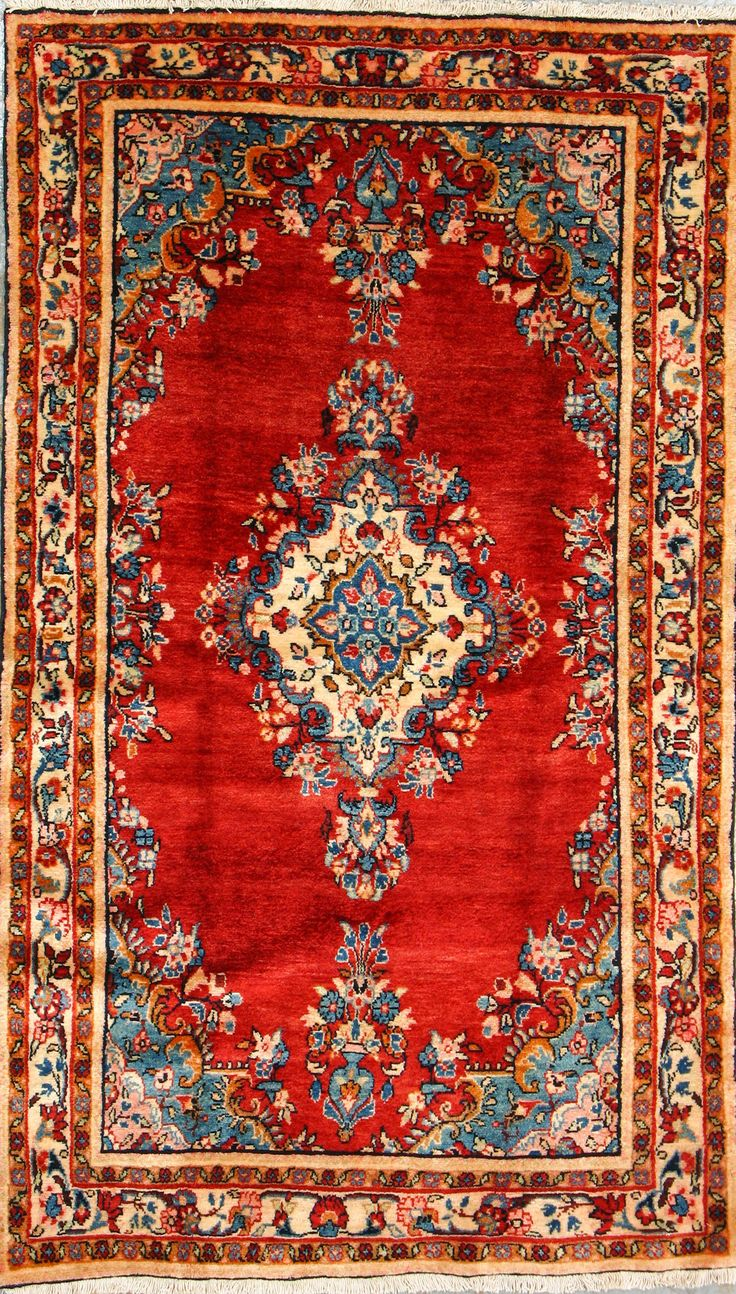 "Buy Nahavand Persian Rug 3' 11"" x 6' 8"", Authentic Nahavand Handmade Rug"