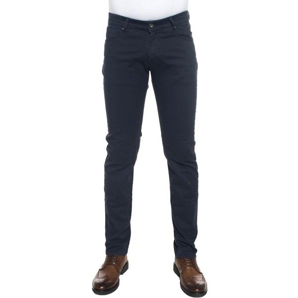 Brooksfield 5-pocket trousers (€117) ❤ liked on Polyvore featuring men's fashion, men's clothing, men's pants, men's casual pants, men's five pocket pants, mens blue pants, men's 5 pocket pants, mens slim fit pants and men's casual cotton pants
