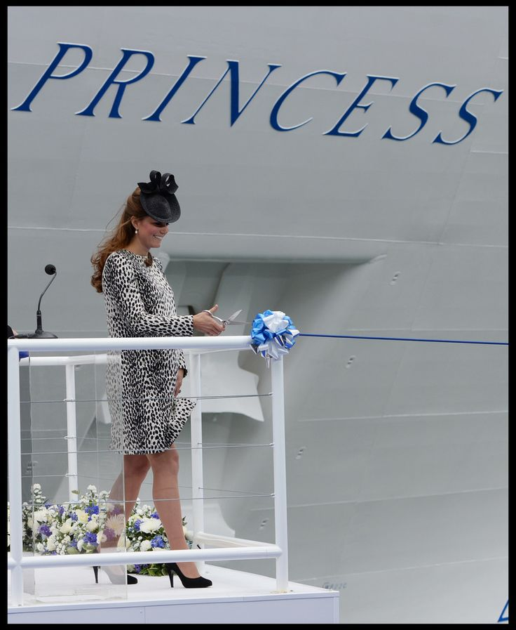 In This Photo: Kate Middleton  Kate Middleton christens a cruise ship for Princess Cruises at the Ocean Cruise Terminal in Southampton on June 13, 2013. Middleton named the new ship the Royal Princess.  (June 13, 2013