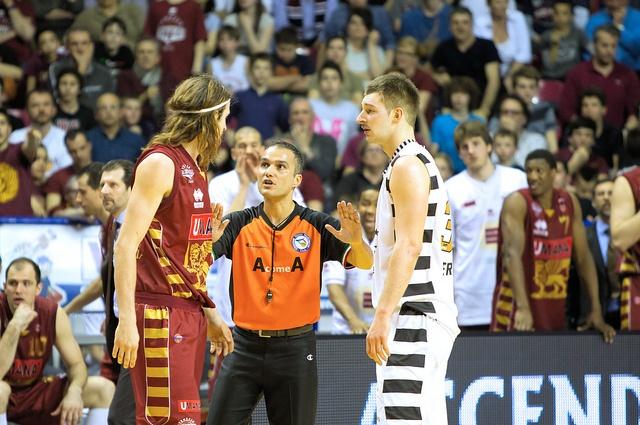 l'arbitro divide Hubalek e Jelovac