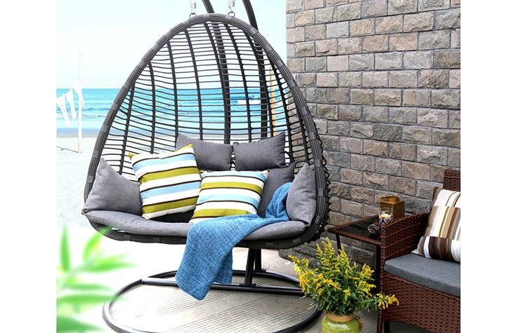 Oval egg hanging patio lounge chair gifts for family