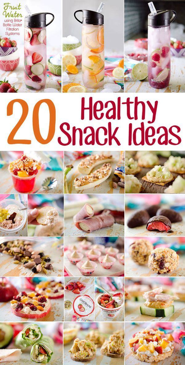 20 Healthy Snacks Ideas for On-The-Go - From sweet to savory and everything in between