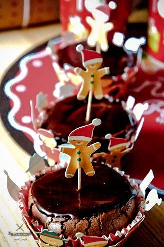 muffiny czekoladowe z powidłami śliwkowymi  chocolate muffins with plum jam  polzarciempolserio.pl