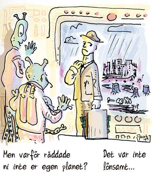 Jacob Stålhammar: Miljön. Syns den inte i kassaboken så finns den inte...