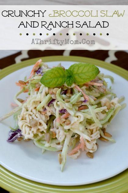 Crunchy Broccoli Slaw and Ranch Salad, Broccoli Slaw Recipe, #Summer, #Salad, #Recipe, #BroccoliSlaw #Ranch