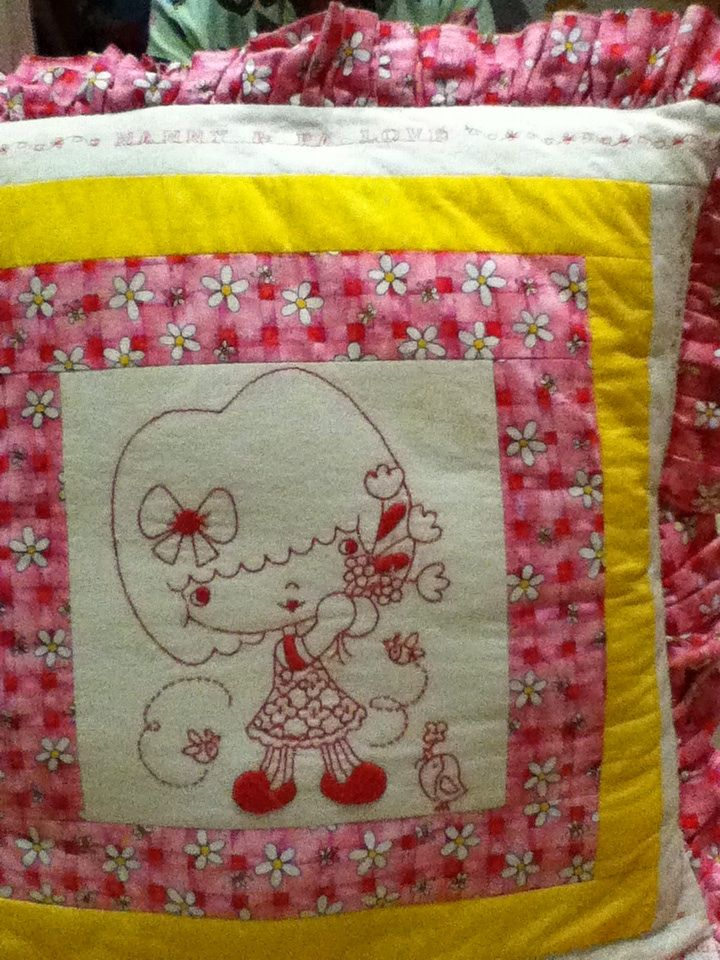 This is a Special cushion I made for our Granddaughter