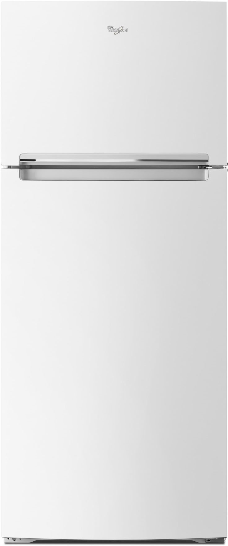Whirlpool WRT518SZFW 28 Inch Top-Freezer Refrigerator with Pocket Handles, Flexi-Slide Bin, Gallon Door Storage, 17.6 cu. ft. Interior, Frameless Glass Shelving, 2 Humidity Controlled Crisper Drawers and Electronic Temperature Controls: White