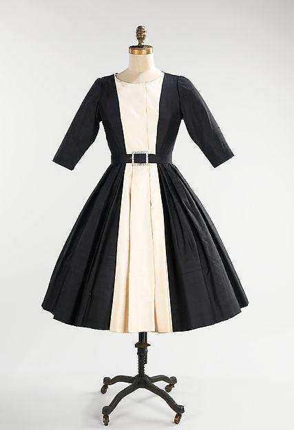 Mainbocher  (American, 1890–1976) Date: ca. 1958 Culture: American Medium: silk, leather, rhinestones
