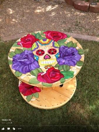 DIA DE LOS MUERTOS/DAY OF THE DEAD~SUGAR SKULL TABLE